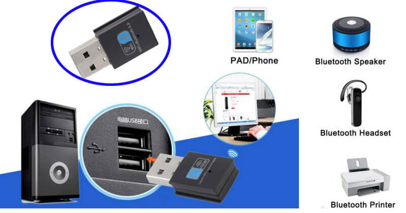 usb wifi adapter with bluetooth application